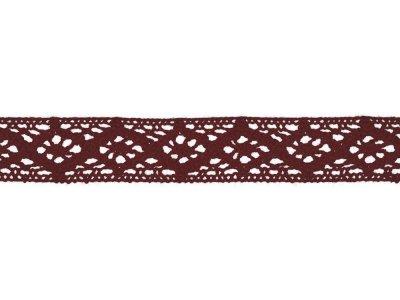 Spitze Baumwolle - 20 mm - bordeaux
