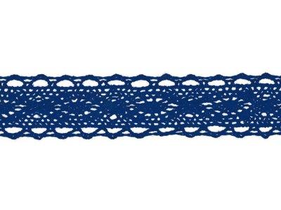 Spitze Baumwolle - 25 mm - kobaltblau