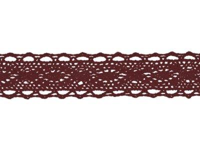 Spitze Baumwolle - 25 mm - bordeaux