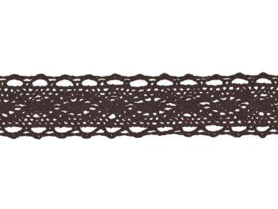 Spitze Baumwolle - 25 mm - braun