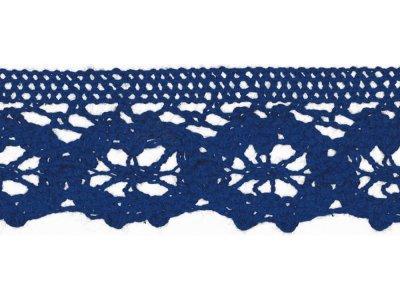 Spitze Baumwolle - 30 mm - kobaltblau
