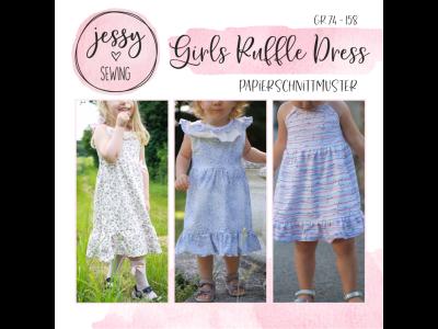 "Papier-Schnittmuster Jessy Sewing - Kleid ""Girls Ruffle Dress"" - Kinder"