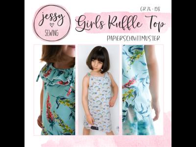 "Papier-Schnittmuster Jessy Sewing - Oberteil ""Girls Ruffle Top"" - Kinder"