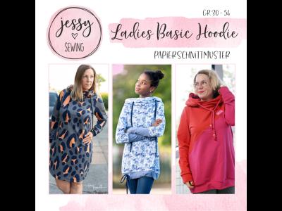 """Papier-Schnittmuster Jessy Sewing - Hoodie """"Ladies Basic Hoodie"""" - Damen"""