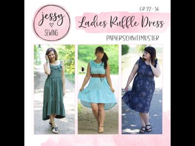 "Papier-Schnittmuster Jessy Sewing - Kleid ""Ladies Ruffle Dress"" - Damen"
