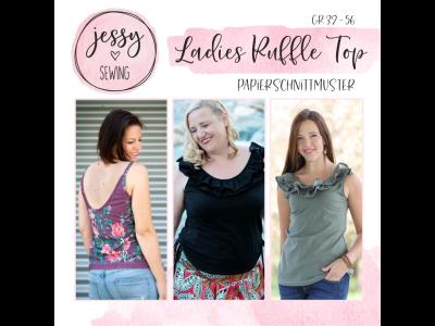 "Papier-Schnittmuster Jessy Sewing - Oberteil ""Ladies Ruffle Top"" - Damen"