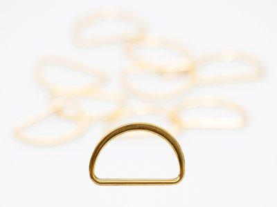 D- Ringe  Metall - 25 mm -  10 Stück - gold