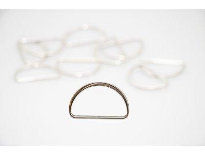 D- Ringe  Metall - 25 mm -  10 Stück - silber