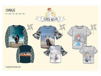 Papierschnittmuster SuperNova Shirt CHARLIE - Kinder