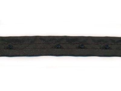 Druckknopfband Obertritt rechteckig schwarz 15mm