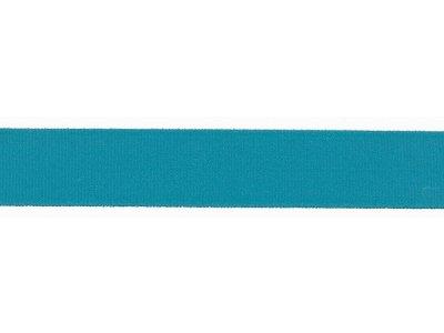 Elastisches Einfassband/Falzgummi - 20 mm glänzend - türkis