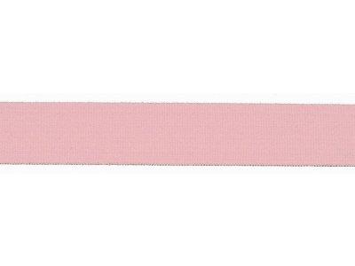 Elastisches Einfassband/Falzgummi - 20 mm glänzend - rosa