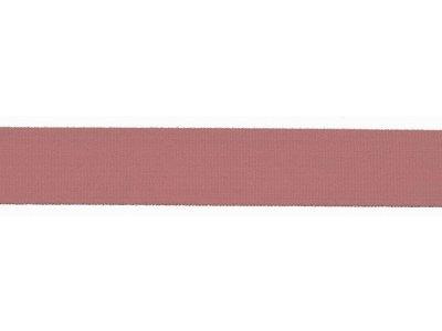 Elastisches Einfassband/Falzgummi - 20 mm glänzend - altrosa