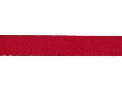 Elastisches Einfassband/Falzgummi - 20 mm glänzend - tomatenrot