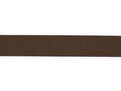 Elastisches Einfassband/Falzgummi - 20 mm glänzend - braun