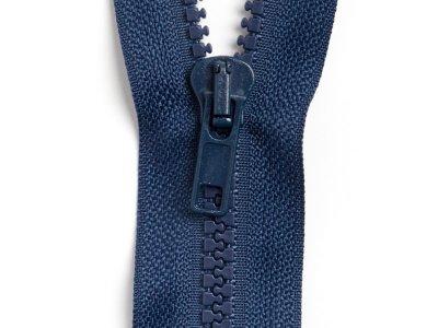 Reißverschluss teilbar 65 cm - dunkles blau