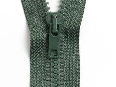 Reißverschluss teilbar 75 cm - dunkles grün
