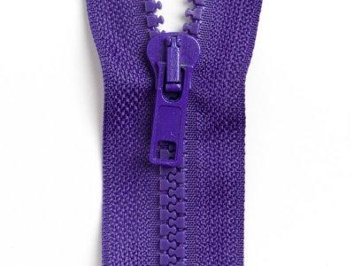 Reißverschluss teilbar 80 cm - dunkles lila