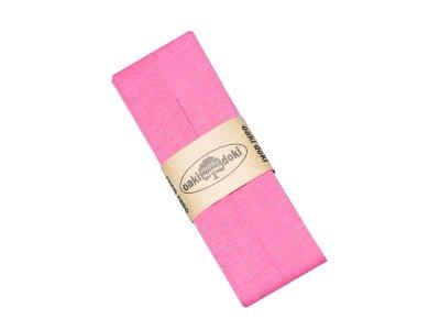 Jersey Schrägband Oaki doki gefalzt 20 mm x 3 m  - dunkles rosa