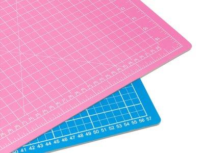 Schneidematte 60 x 45 cm pink-blau