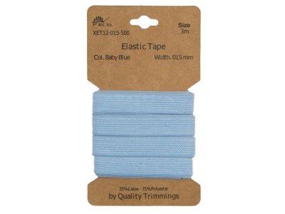 Gummiband elastisch 15 mm - uni pastellblau