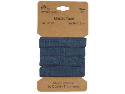 Gummiband elastisch 15 mm - uni jeansblau