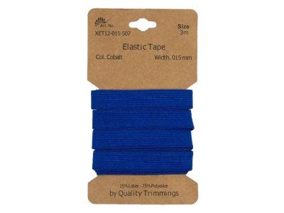Gummiband elastisch 15 mm - uni kobaltblau