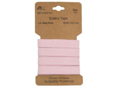 Gummiband elastisch 15 mm - uni pastellrosa