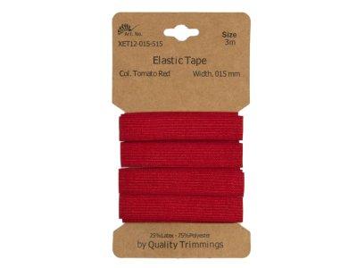 Gummiband elastisch 15 mm - uni tomatenrot