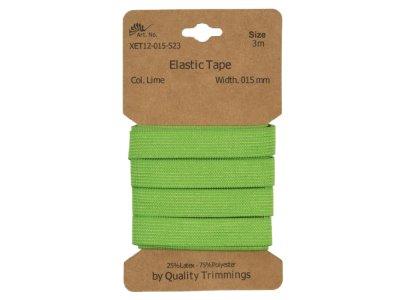Gummiband elastisch 15 mm - uni lime