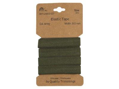 Gummiband elastisch 15 mm - uni olive