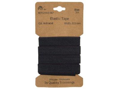 Gummiband elastisch 15 mm - uni anthrazit