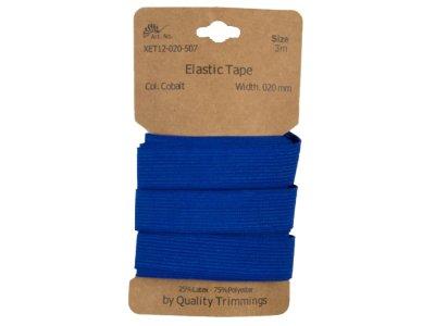 Gummiband elastisch 20 mm - uni kobaltblau