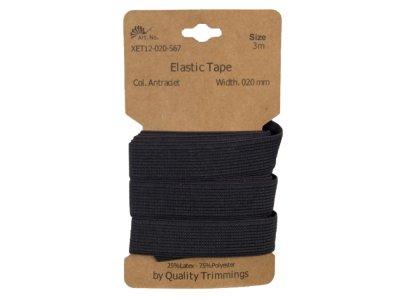 Gummiband elastisch 20 mm - uni anthrazit