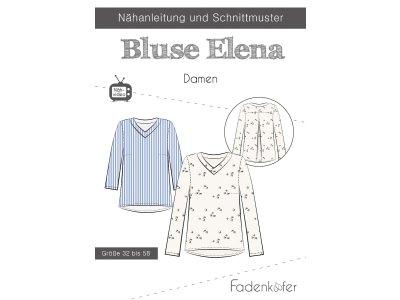 Papier-Schnittmuster Fadenkäfer - Bluse ELENA - Damen