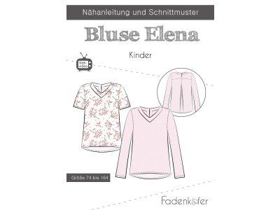 Papier-Schnittmuster Fadenkäfer - Bluse ELENA - Kinder