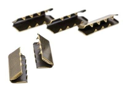 Endstücke Metall - 40 mm -  5 Stück - altgoldfarben
