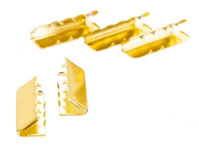 Endstücke Metall - 40 mm -  5 Stück - gold