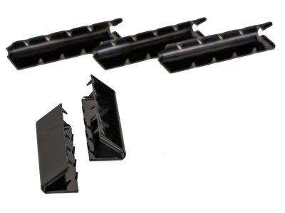 Endstücke Metall - 25 mm -  5 Stück - schwarz