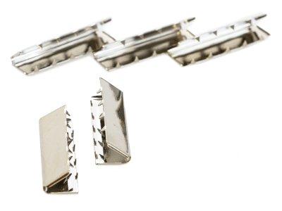 Endstücke Metall - 25 mm -  5 Stück - silber