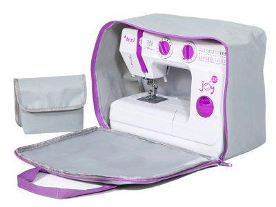 Nähmaschinen-Tasche Enjoy Bag ca. 41 cm x 30 cm x 18 cm - grau/lila