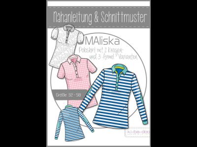 Papierschnittmuster ki-ba-doo MAliska Polo-Shirt Damen