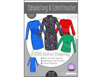 Papierschnittmuster ki-ba-doo ABBIE Kleid mit Drapierung - Damen