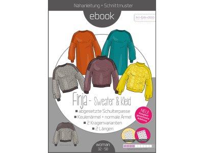 Papierschnittmuster ki-ba-doo FINJA - Sweater&Kleid - Damen