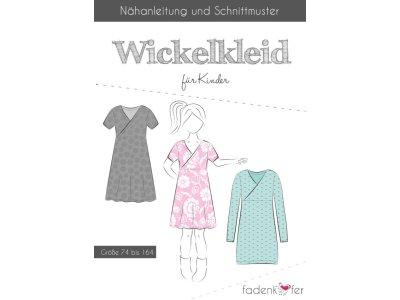 Papier-Schnittmuster Fadenkäfer - Wickelkleid - Mädchen
