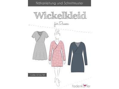 Papier-Schnittmuster Fadenkäfer - Wickelkleid - Damen