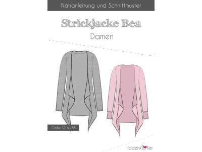 Papier-Schnittmuster Fadenkäfer - Strickjacke Bea - Damen