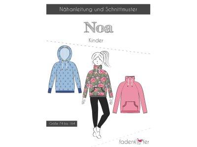 Papier-Schnittmuster Fadenkäfer - Hoodie Noa - Kinder