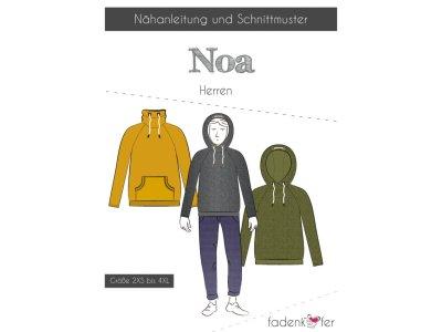 Papier-Schnittmuster Fadenkäfer - Hoodie Noa - Herren