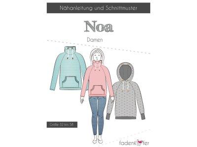 Papier-Schnittmuster Fadenkäfer - Hoodie Noa - Damen